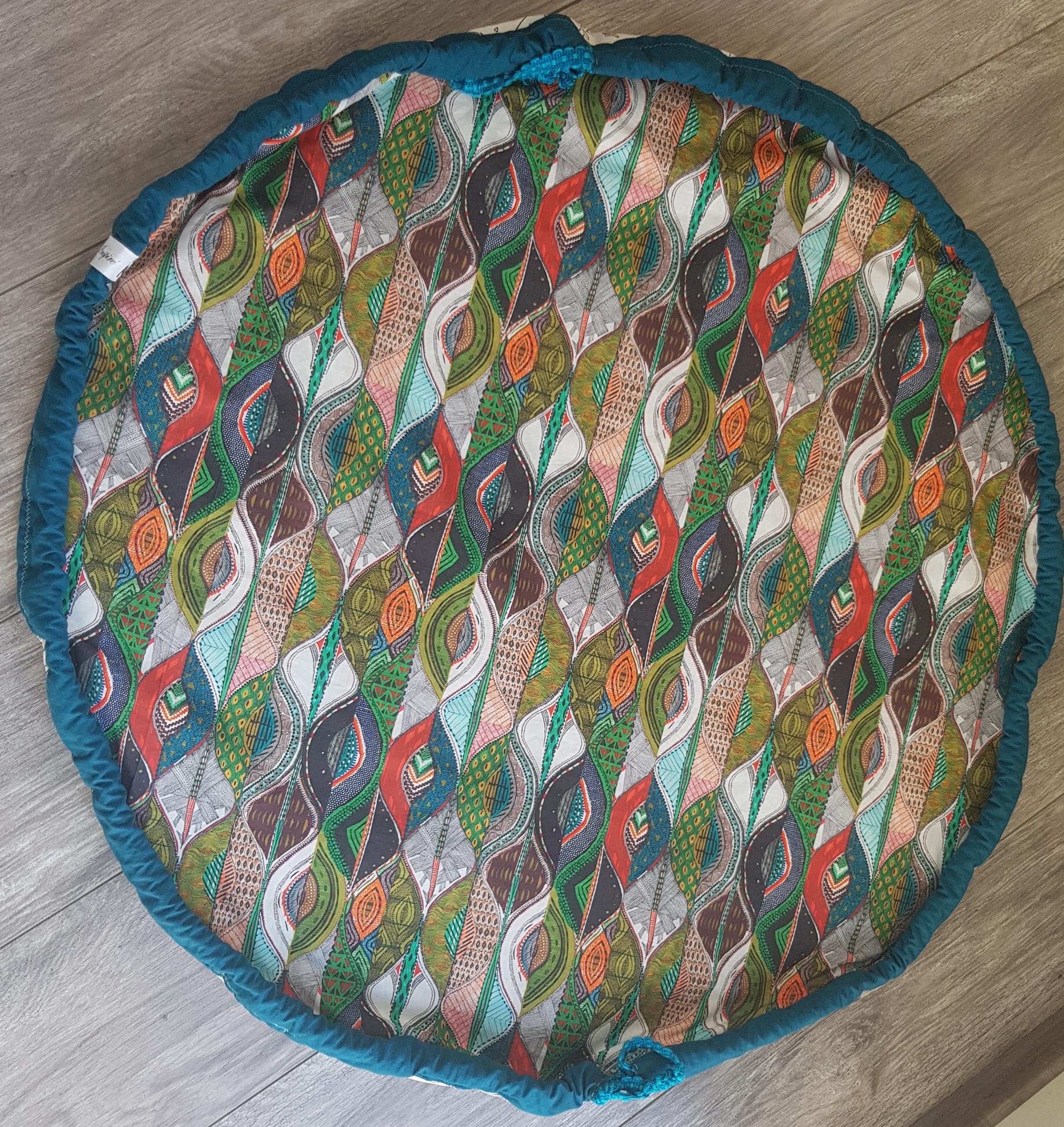 Tapis D Éveil Sac A Jouets tapis de jeux,tapis d'éveil à colorier transformable en sac de rangement  baluchon