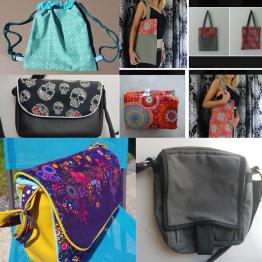 sacs divers : sac à main, tote bag, cabas, sac de plage, sac pour vélo, cartable, sac de sport...